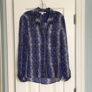 DVF snakeskin blouse